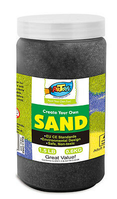 Black Colour Art Sand 600g Bottle Great for School & Home & Party Craft Sand Art