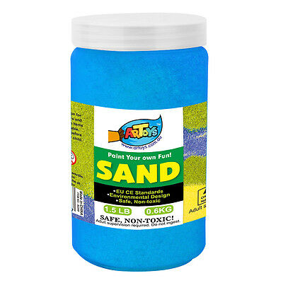 Blue Colour Art Sand 600g Bottle Great for School & Home & Party Craft Sand Art