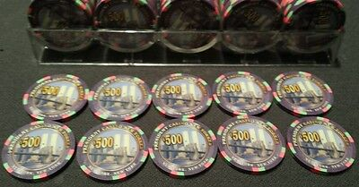 Qty-10 New Paulson President New Yorker Primary $500 Chips