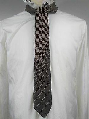 VALENTINO Italy stripe 100% silk neck tie Mens Men's hand made FREE SHIPPING