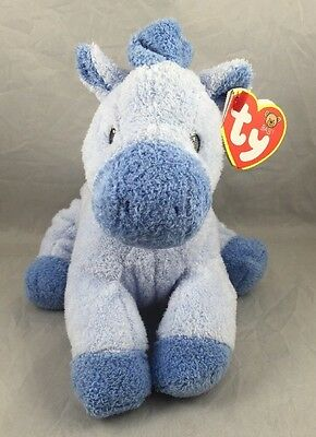 Ty My Baby Horsey Blue Pluffies 2007 Lovey Love To Plush Soft Toy Farm Horse New