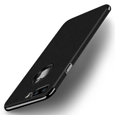 Luxury Slim Leather Electroplate Hard Bumper Back Case Cover For iPhone 7 7 Plus