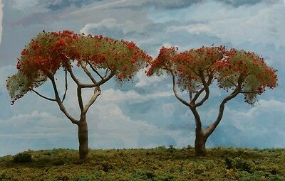 MODEL CORAL TREES HO SCALE. Set of 2  New Release!!
