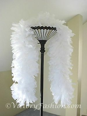 Large Ruff Feather Boa - WHITE - Outstanding Show Biz Quality