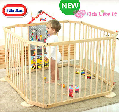Little Tikes Wooden BABY Toddler Interactive PLAYPEN Safety Gate Activity BOARD