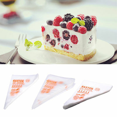 100Pcs Cake Decoration Tool Icing Piping Bags Pastry Disposable Cream Bags Easy