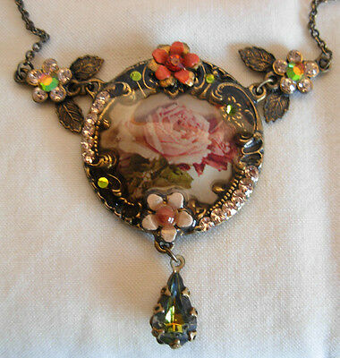 Michal Negrin Necklace With Roses