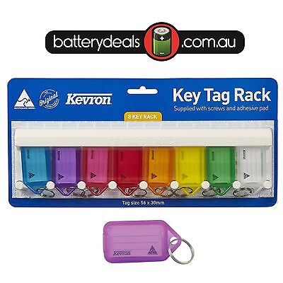 Kevron Key Ring Tag ID6 Rack Includes 8 Clicktags with wall mount