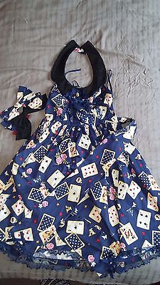 Lolita style, playing cards dress.