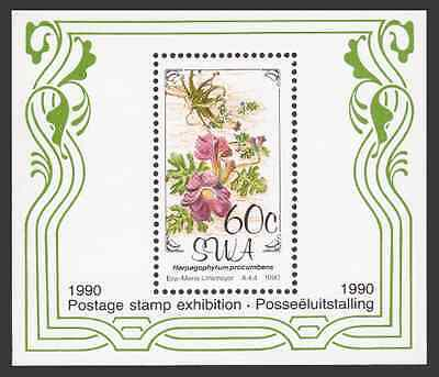 SOUTH-WEST AFRICA - 1990 - Miniature Sheet: Flowers. Mint NH
