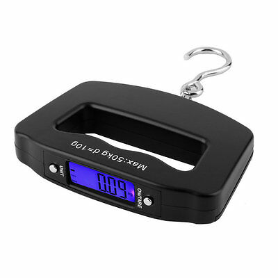 Pocket 50kg/10g LCD Digital Fishing Hang Electronic Scale Hook Weight Luggage B9