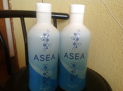 2 bottles asea water new with sealed exp 08/2017