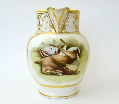 Remarkable early 19th century large hand painted cider jug by Grainger Worcester