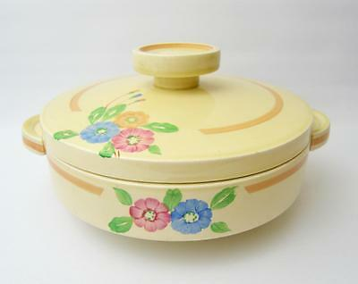 A beautiful hand painted Clarice Cliff Tureen 1930's