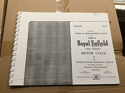 Royal Enfield 1955-56 500 Twin Parts List 56-000127 [3-86]