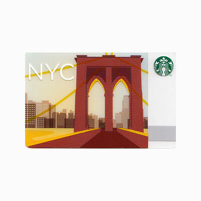 Lot of 20 New York City (2013) Brooklyn Bridge Collectible Starbucks Gift Cards