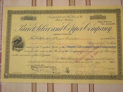 USA -    Parrot Silver and Copper Co.   div. Shares  1900er  10/301