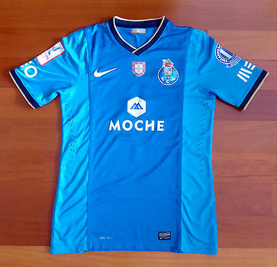 Rare FC PORTO match worn/prepared away football shirt Fucili EMIRATES CUP 2013