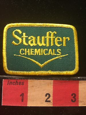 Vtg STAUFFER CHEMICALS (defunct Company) Indiana Patch ~ East Chicago 69UU