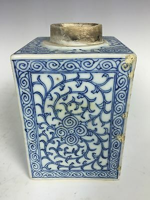 Chinese Porcelain Blue And White Tea Caddy