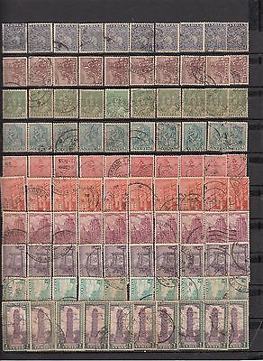 India 1949 Definitives Archeology 10 Different x 10 = 100 Stamps