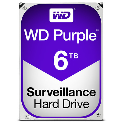Western Digital Purple 6TB Surveillance CCTV NVR DVR 3.5 SATA Hard Drive