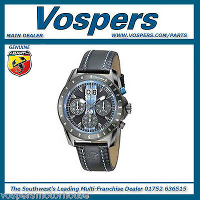 Genuine Abarth Branded Chronograph Anthracite & Blue Watch 59230594