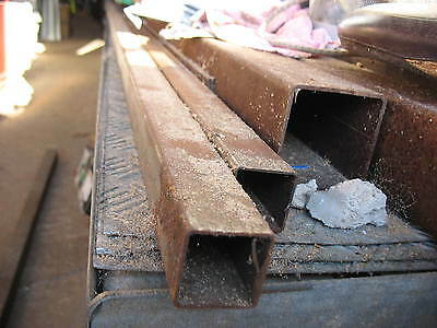 2 IDENTICAL bits 40mm BOX IRON STEEL SQUARE TUBE 3001mm long. CAN HELP DELIVER