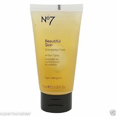 No7 Beautiful Skin Energising Face Mask for instant boost of radiance 75ml
