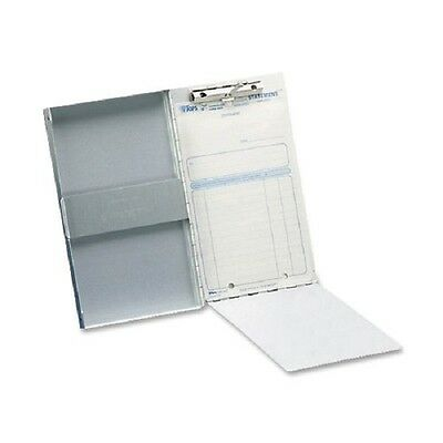 "Aluminium ClipBoard Storage 6x10"" Document Compartment Holder Side Open Folder"