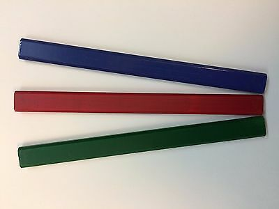 Carpenters / Joiners Pencils for Timber/Wood/Stone, 3 Grades x 12 Pencils