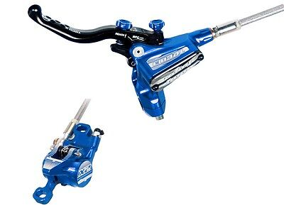 Hope Tech3 X2 Front And Rear Brake in Blue, Standard Hoses