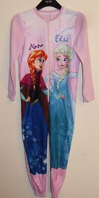 Girls Pink Disney Frozen Play Suit (Anna & Elsa Print)  Bed Wear Age 9-10