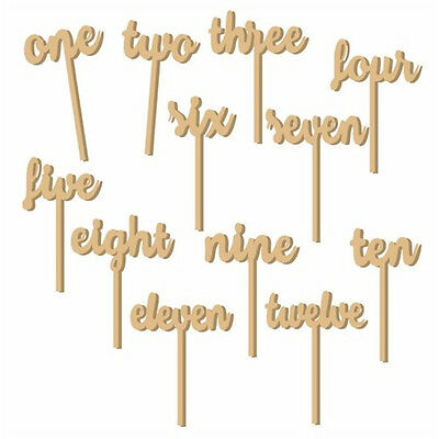 1-12 Wooden Table Numbers set Stick Wedding Birthday Party Decoration Supplies