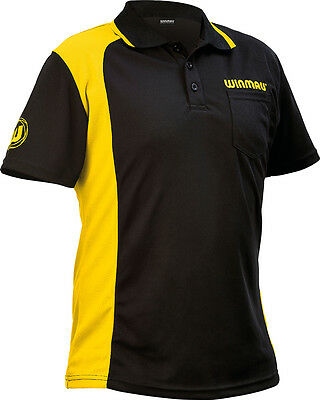 Winmau WinCool 2 Dart Shirt Club Game Short Sleeve Polo Top Small-XXXX Large
