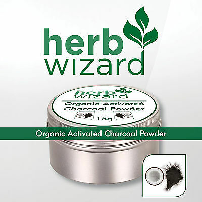 Organic activated charcoal powder for natural teeth whitening PLUS stain remover