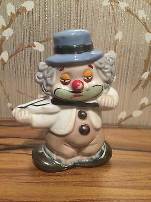 """Antique Frankel Two-Faced Double Sided Unusual Clown Playing Violin Figure 6"""""""