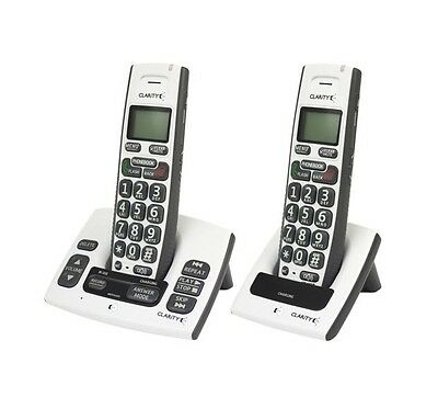 Clarity D613C Dual Handsets Amplified Phone with Digital Answering Machine (A)
