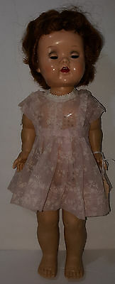 """ALL ORIGINAL SAUCY WALKER DOLLl VINTAGE 16"""" CRY BOX and EYES WORK EUC"""