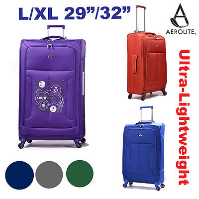 Aerolite Large / Extra Large XL 4 Wheel Hold Check In Family Luggage Suitcase