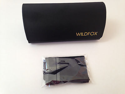 New Authentic WildFox Sunglasses Case Heart Shape Black Hard Glasses Frame Cloth