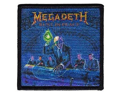 Official Licensed - Megadeth - Rust In Peace Embroidered Woven Patch Metal