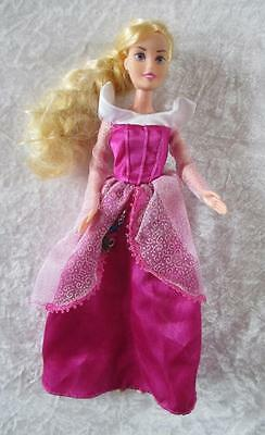 Disney Princess Sleeping Beauty doll with charms approx 12 inches tall