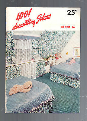 1959- 1001 Decorating Ideas Book 16-Consolidated Trimming Corporation-76 Pages