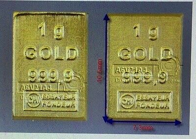 Lingot or 1 gramme or pur 24 carats 999.9 VALCAMBI
