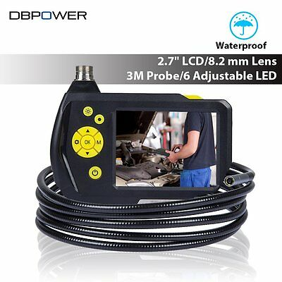 "DBPOWER 2.7"" Display USB Endoscope Inspection Camera 8.2 mm 3M Tube Video Camera"