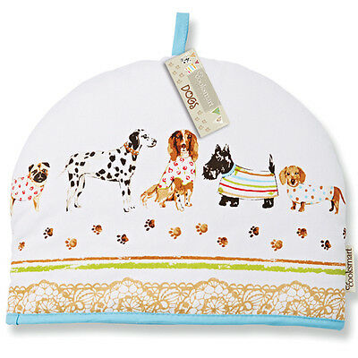 Cooksmart Dogs On Parade Tea Cosy Teapot Pot Cover Warmer Cotton Insulated Gift