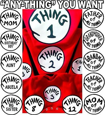Thing 1 T-SHIRT and THING 2 t-shirts ADULT YOUTH INFANT Thing one and thing two