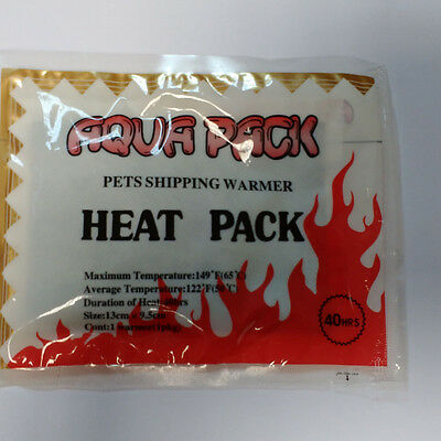 100 x Aqua Pack , Heat Pack , Heatpack , Heatpacks , 40 h für den Tiertransport