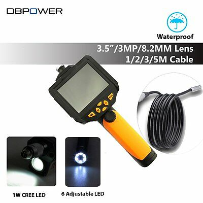 DBPOWER NTS200 3.5Inch LCD 3MP 720P HD Borescope USB Endoscope 8.2mm 3M Tube